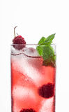 Red cocktail with raspberry Stock Photo