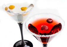 Red cocktail with raspberry Royalty Free Stock Photos