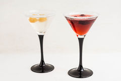 Red cocktail with raspberry Royalty Free Stock Image