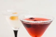 Red cocktail with raspberry Stock Image