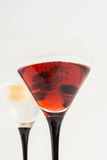 Red cocktail with raspberry Royalty Free Stock Photo