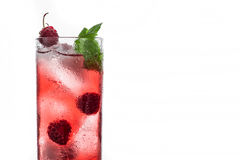 Red cocktail with raspberry Royalty Free Stock Images