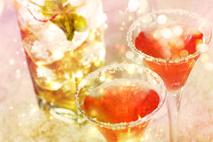 Red cocktail with salt Royalty Free Stock Images