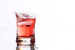 Red cocktail splash Royalty Free Stock Image