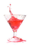 Red cocktail splash isolated Royalty Free Stock Image