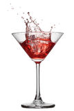 Red cocktail with splash isolated Stock Photo