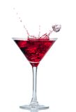 Red cocktail with splash isolated on white Stock Photos