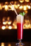 Red cocktail with straws Stock Photography