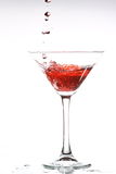 Red cocktail on white Royalty Free Stock Image