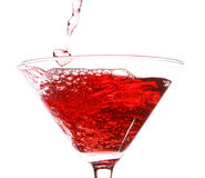 Red cocktail on white Royalty Free Stock Photo
