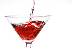 Red cocktail on white Stock Photography