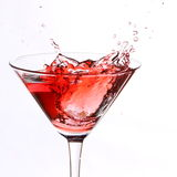 Red cocktail on white Stock Photos