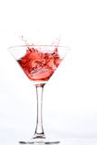 Red cocktail on white Stock Photo