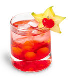 Red cocktaile with tonic and grenadine Stock Photography