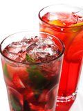 Red Cocktails Stock Photography