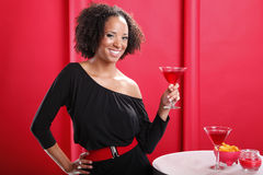 Red cocktails on red Stock Images