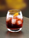 Red coctail. A campari coctail drink in a modern glass Royalty Free Stock Photos