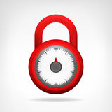 Red code circular padlock design  Royalty Free Stock Photo