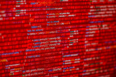 Red code Royalty Free Stock Photo