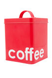 Red Coffee Container Royalty Free Stock Images