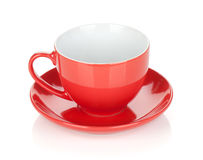 Red coffee cup Royalty Free Stock Photo