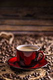 Red coffee cup Stock Photos
