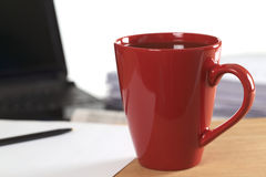 Free Red Coffee Cup On Desk Stock Photo - 19239930