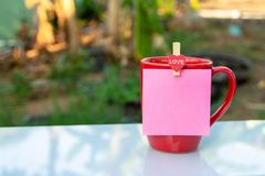 Red coffee cup royalty free stock photos