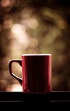 Red coffee cup. Wih nice background Royalty Free Stock Photography