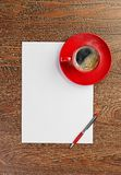 Red coffee cup on white blank Royalty Free Stock Image
