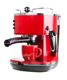 Red coffee machine Stock Photography