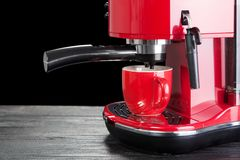 Red coffee machine Royalty Free Stock Image