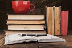 Red Coffee Mug Stock Photos