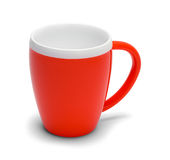 Red Coffee Mug Royalty Free Stock Images