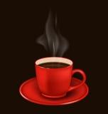 Red coffee mug with vapor Royalty Free Stock Photo