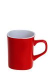 Red coffee mug Stock Photo