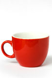Red coffee mug Stock Photo