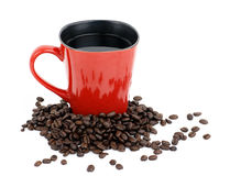 Red coffee mug Stock Image