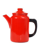 Red coffee pot Stock Image