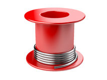 Red coil with wire. Stock Photo