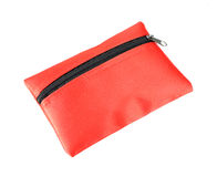 Red coins purse with zip Royalty Free Stock Photography