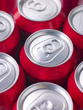 Red Cola Cans. Close Up Of Red Cola Cans Stock Photography