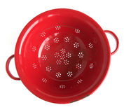 Red colander Royalty Free Stock Image