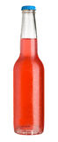 Red cold drink in bottle Stock Image