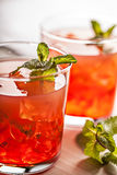 Red cold summer cocktail drink Stock Images