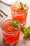 Red cold summer cocktail drink Royalty Free Stock Photo
