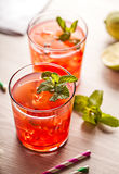 Red cold summer cocktail drink Royalty Free Stock Images