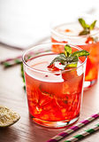 Red cold summer cocktail drink Royalty Free Stock Image