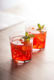 Red cold summer cocktail drink Stock Image