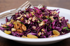 Red coleslaw salad Stock Photography